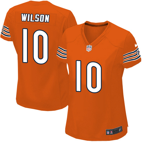 Marquess Wilson Women's Nike Chicago Bears Game Orange Alternate Jersey
