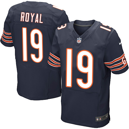 Eddie Royal Nike Chicago Bears Elite Navy Blue Team Color Jersey
