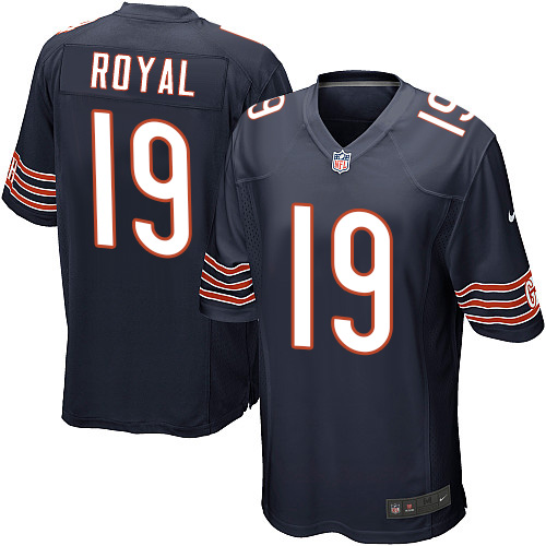 Eddie Royal Nike Chicago Bears Game Navy Blue Team Color Jersey