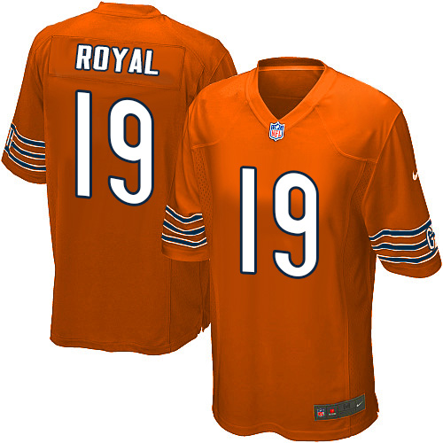 Eddie Royal Nike Chicago Bears Game Orange Alternate Jersey