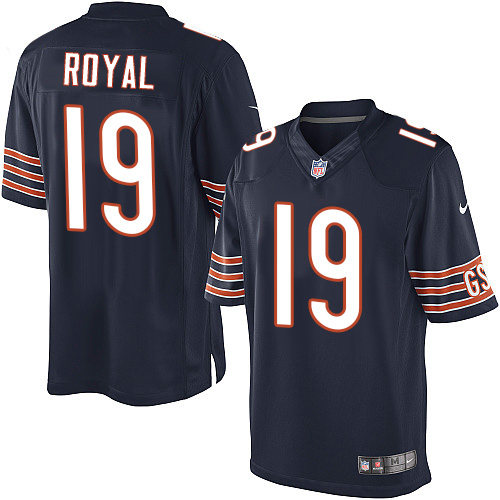 Eddie Royal Youth Nike Chicago Bears Limited Navy Blue Team Color Jersey