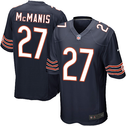 Sherrick McManis Nike Chicago Bears Game Navy Blue Team Color Jersey