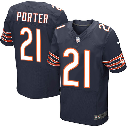 Tracy Porter Nike Chicago Bears Elite Navy Blue Team Color Jersey