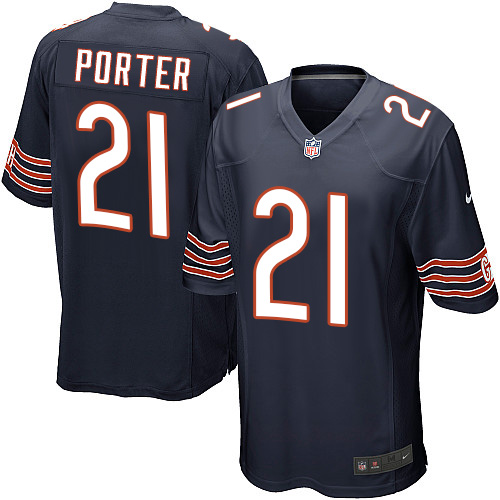 Tracy Porter Nike Chicago Bears Game Navy Blue Team Color Jersey