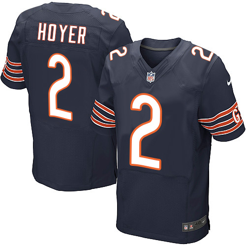 Brian Hoyer Nike Chicago Bears Elite Navy Blue Team Color Jersey