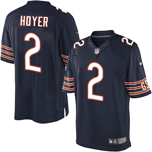 Brian Hoyer Nike Chicago Bears Limited Navy Blue Team Color Jersey