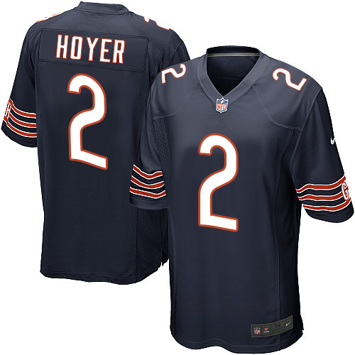 Brian Hoyer Nike Chicago Bears Game Navy Blue Team Color Jersey