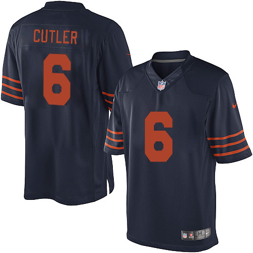 Jay Cutler Nike Chicago Bears Limited Navy Blue 1940s Throwback Alternate Jersey