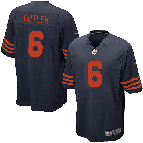 Jay Cutler Nike Chicago Bears Game Navy Blue 1940s Throwback Alternate Jersey