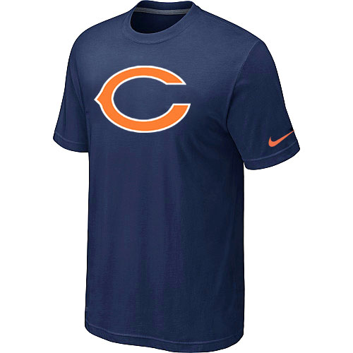 Nike Chicago Bears Sideline Legend Authentic Logo Dri-FIT T-Shirt - Navy Blue