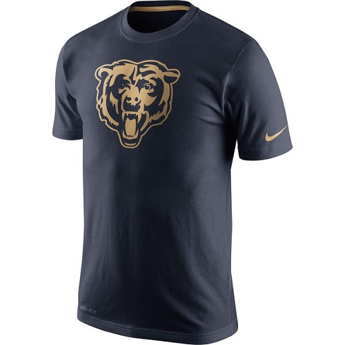 Chicago Bears Nike Navy Championship Drive Gold Collection Performance T-Shirt