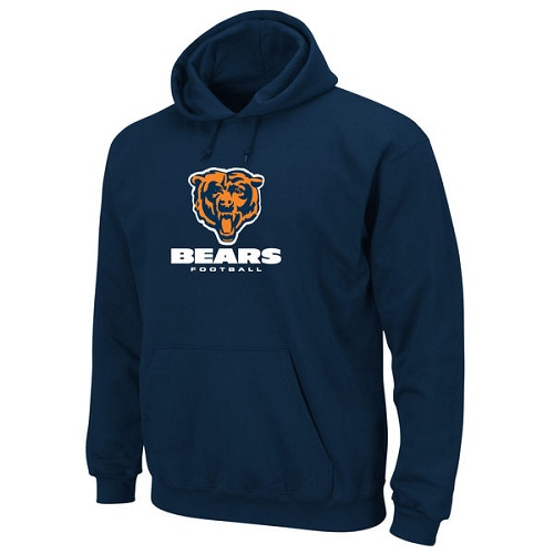 Chicago Bears Critical Victory Pullover Hoodie - Navy Blue