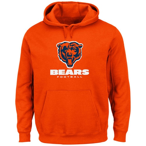 Chicago Bears Critical Victory Pullover Hoodie - Orange
