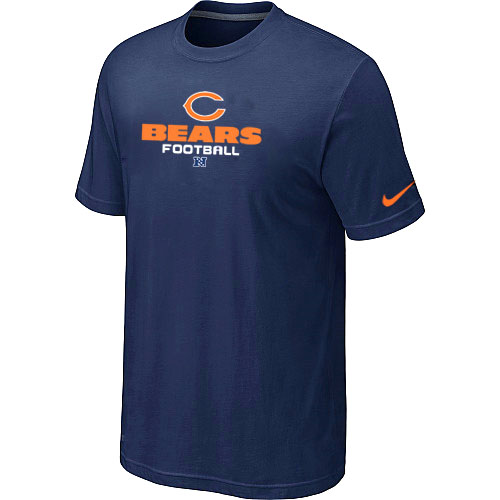 Nike Chicago Bears Authentic Logo T-Shirt - Navy Blue