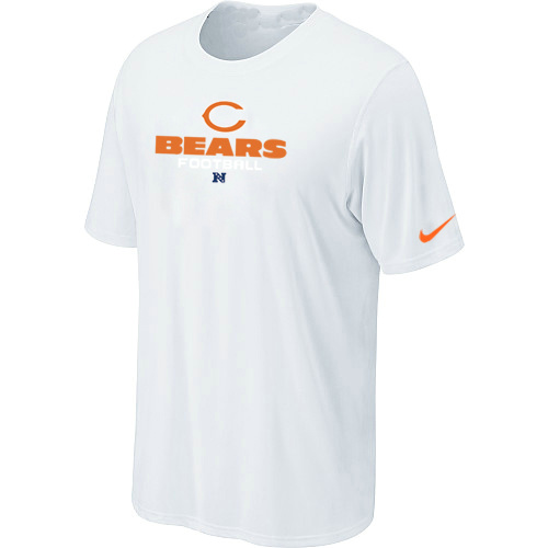 Nike Chicago Bears Authentic Logo T-Shirt - White