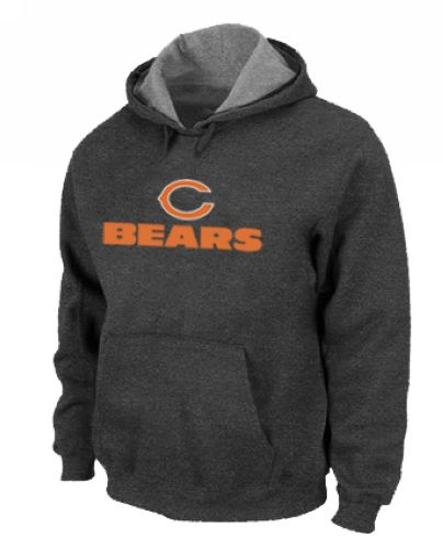 Nike Chicago Bears Authentic Logo Pullover Hoodie - Dark Grey