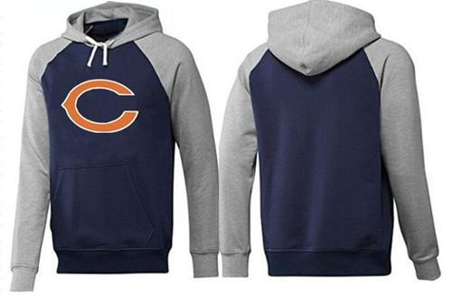 Nike Chicago Bears Logo Pullover Hoodie - Navy/Grey