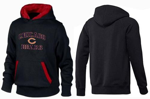 Nike Chicago Bears Heart & Soul Pullover Hoodie - Black/Red