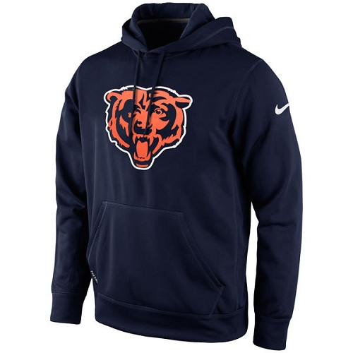 Chicago Bears Nike KO Logo Essential Hoodie - Navy Blue