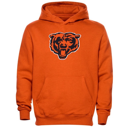Chicago Bears Toddler Team Logo Fleece Pullover Hoodie - Orange