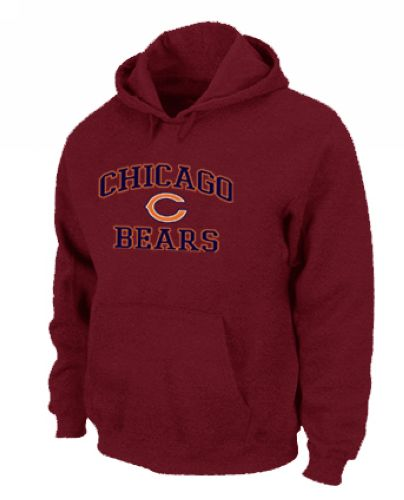 Nike Chicago Bears Heart & Soul Pullover Hoodie - Red