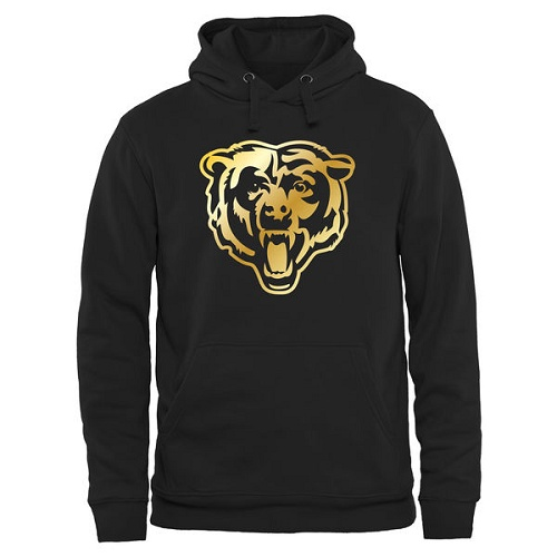 Chicago Bears Pro Line Black Gold Collection Pullover Hoodie