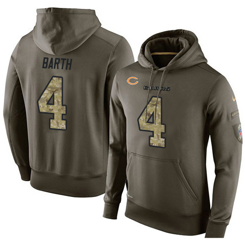 Nike Chicago Bears 4 Connor Barth Green Salute To Service Pullover Hoodie