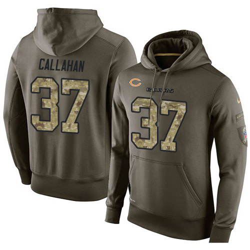 Nike Chicago Bears 37 Bryce Callahan Green Salute To Service Pullover Hoodie